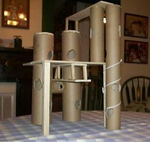 Fiches de bricolage fabriquer des plateformes en carton et bois une gerbille dans les alpes for Bricolage bois facile